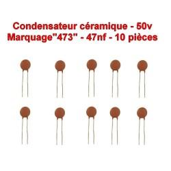 10x Condensateur Céramique 473 - 47nf - 50v - 106con266