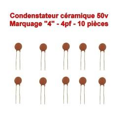 10x Condensateur Céramique 4 - 4pf - 50v - 102con224