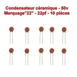 10x Condensateur Céramique 22 - 22pf - 50v - 103con234