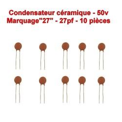 10x Condensateur Céramique 27 - 27pf - 50v - 103con235