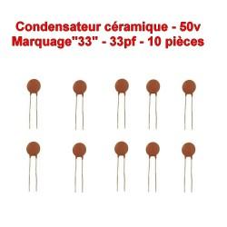 10x Condensateur Céramique 33 - 33pf - 50v - 103con237
