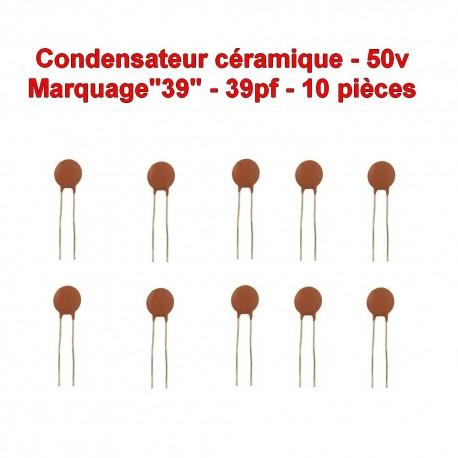 10x Condensateur Céramique 39 - 39pf - 50v - 103con238