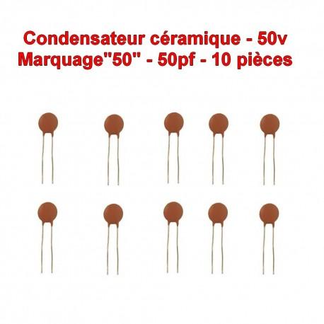 103con240 10x Condensateur Céramique 50-50pf 50v