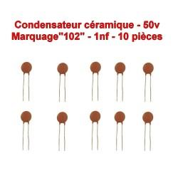 50v 10x Condensateur C/éramique 102-1nf 104con246