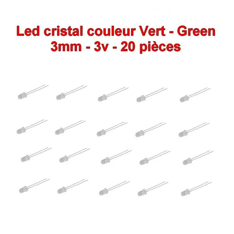 Ronde Ultra claire Tr/ès claire 20 mA Diode LED de 3 mm avec cosses /à souder 30/° Blanc chaud