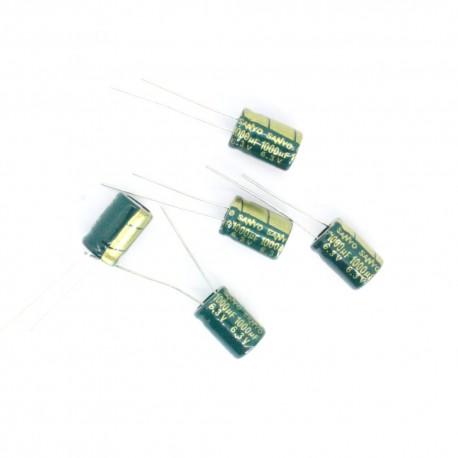 5x Condensateur chimique 1000uf 6.3v 8x12mm 1con215