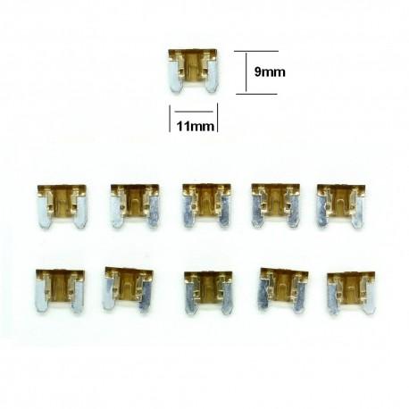 10x ultra mini Fusibles Lame 7.5A 11x9mm - 124fus234