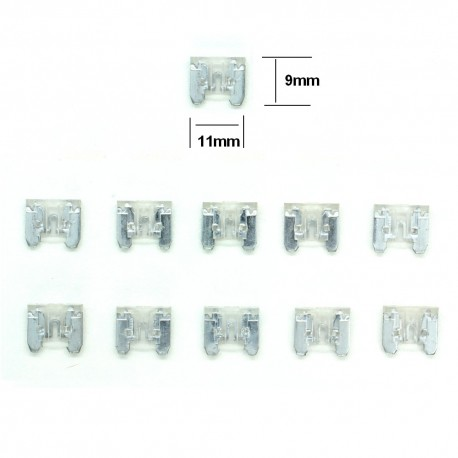 10x ultra mini Fusibles Lame 15A 11x9mm - 124fus237