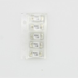 5x lot Fusible ceramique 1808 SMD - 1.6A - 125V 2.6x6mm