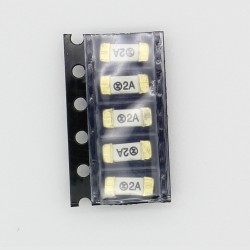 5x lot Fusible ceramique 1808 SMD - 2A - 125V 2.6x6mm