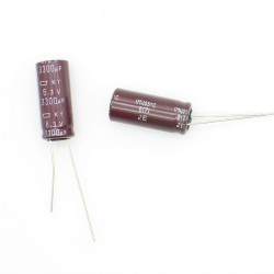 2x Condensateur chimique 3300uF 6.3V - 10x25mm - 17con106