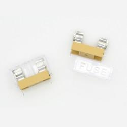2x Porte fusible 5x20 mm a souder 250v - 6A max - 24pofus003