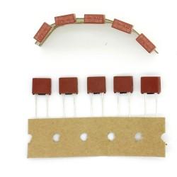 5x Fusible 392 rectangulaire T1A 250v - Temporisé - 22fus033