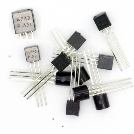 10x Transistor A733 - PNP - TO-92