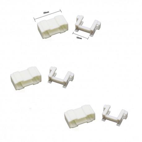 2x Porte fusible blanc 5x20mm avec couvercle - 250v