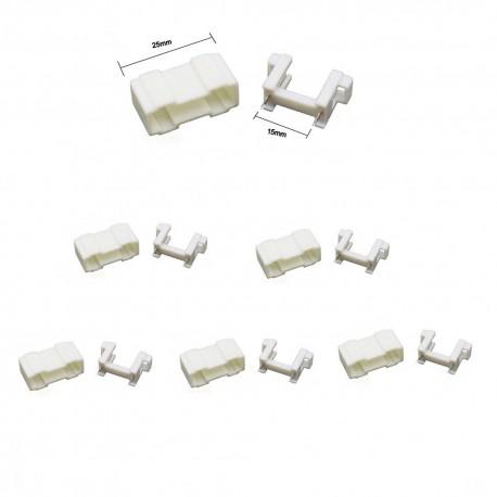 5x Porte fusible blanc 5x20mm avec couvercle - 250v