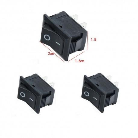 2x Interrupteur à bascule KCD1-101 - 6A - 250v 20x18mm