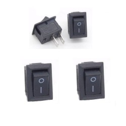 2x Mini Interrupteur SPST - KCD1-11 3A 250v 10x15mm