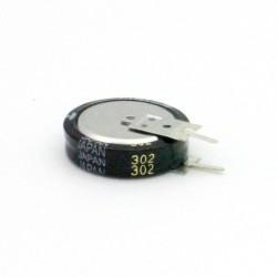 Super condensateur PANASONIC EECS5R5V105 - 1F 5.5V 70C - 19mm 32con272