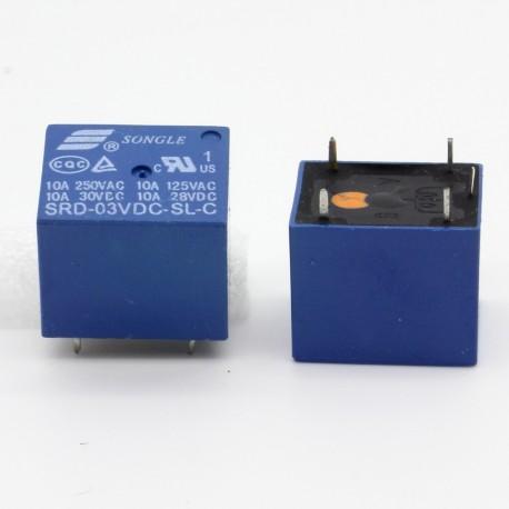 Relais puissance 3v SRD-3VDC-SL-C 10A - 5 pins T73