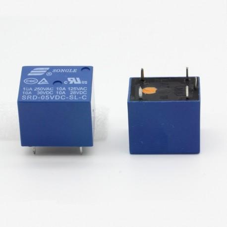 Relais puissance 5v SRD-5VDC-SL-C 10A - 5 pins T73