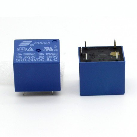 Relais puissance 24v SRD-24VDC-SL-C 10A - 5 pins T73