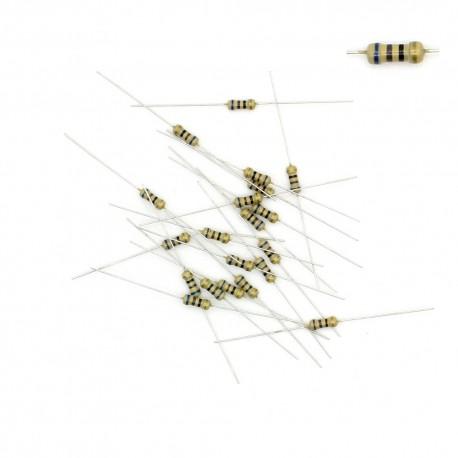 20x Résistances carbone ¼W - 0.25w - 5% - 68R - 68ohm 68 ohm