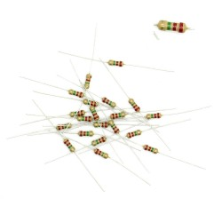 20x Résistances carbone ¼W - 0.25w - 5% - 2.2Mohm - 2.2M ohm - 54res121