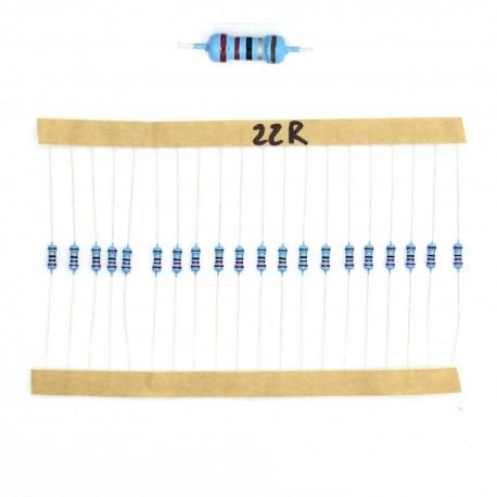20x Résistances métal ¼W - 0.25w - 1% - 22R - 22ohm 22 ohm
