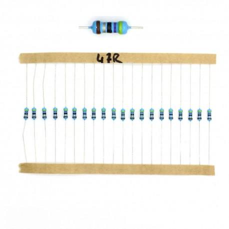 20x Résistances métal ¼W - 0.25w - 1% - 47R - 47ohm 47 ohm