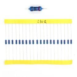 20x Résistances métal ¼W - 0.25w - 1% - 270R - 270ohm 270 ohm - 57res133