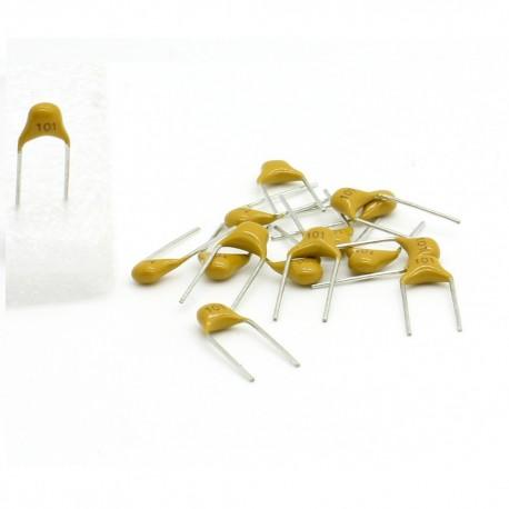 15x Condensateur Céramique Multicouche Monolithique 101 - 100pf - 50v