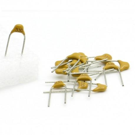15x Condensateur Céramique Multicouche Monolithique 330 - 33pf - 50v