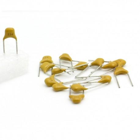 15x Condensateur Céramique Multicouche 224- 220nf - 50v