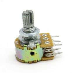 Potentiomètre Double stéréo B10K - 10k linéaire - WH148 - 63pot012