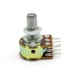 Potentiomètre Double stéréo B5K - 5k linéaire - WH148 - 63pot013