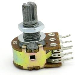 Potentiomètre Double stéréo B2K - 2k linéaire - WH148 - 63pot015