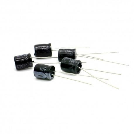 5x Condensateur chimique radial 470uF 10V 6x11mm
