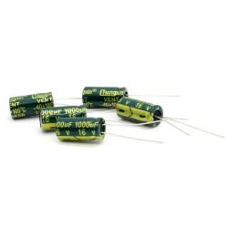5x Condensateur chimique 1000uF 16V 8x16mm - 64con163