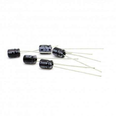 5x Condensateur électrolytique chimique radial 10uF 25V 4x6mm