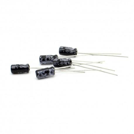 5x Condensateur chimique radial 4.7uF 50V 4x8mm
