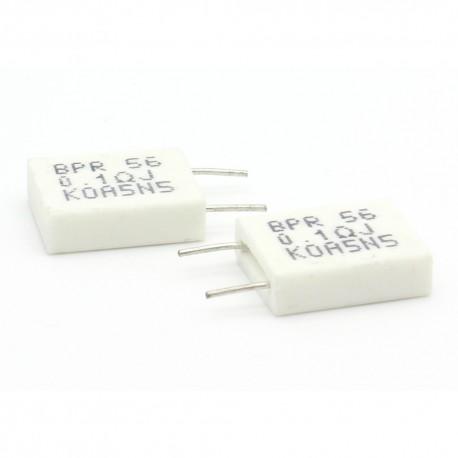 2x Résistance Ciment 5w 0.1ohm non inductive BPR56