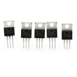 5x MC7805CT 7805 régulateur de tension 5v - TO-220 - 120reg003