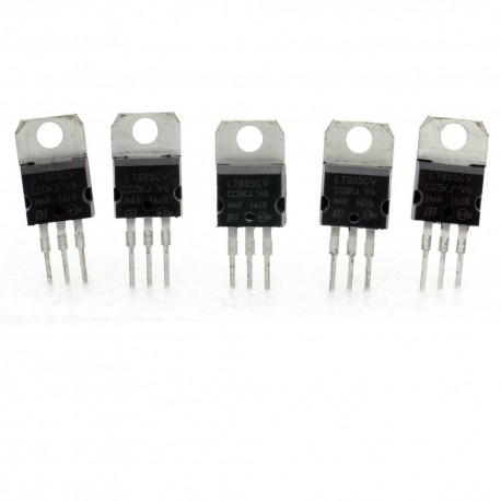 5x L7805cv régulateur de tension 5v - TO-220