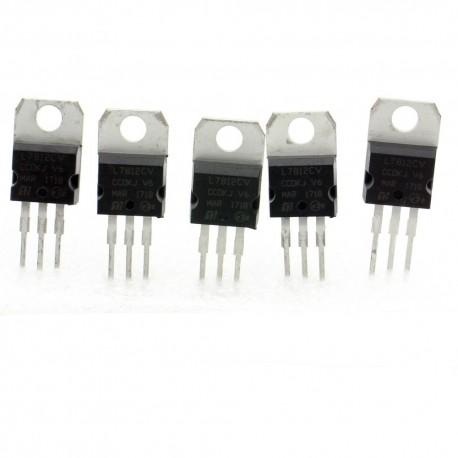 5x L7812cv régulateur de tension 12v - TO-220