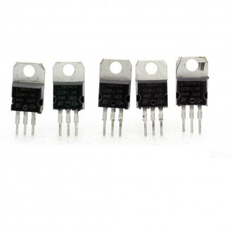 5x L7824CV régulateur de tension 24v - TO-220