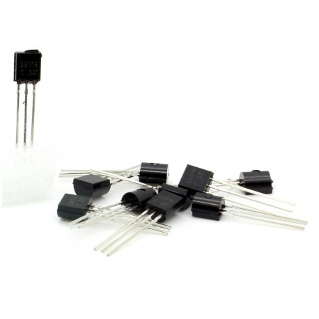 10x Transistor S9014 - NPN - TO-92