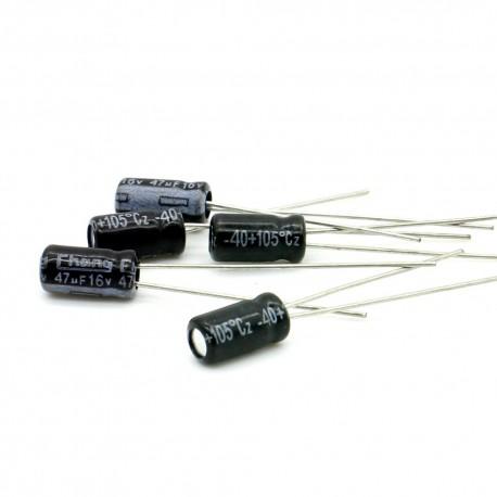 5x Condensateur chimique radial 47uF 16V 4x8mm