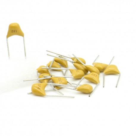 15x Condensateur Céramique Multicouche 201 - 200pf - 50v