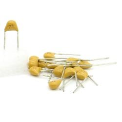 15x Condensateur Céramique Multicouche 271 - 270pf - 50v - 66con183